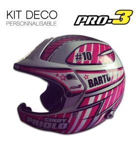 Stickers Helmet Stilo Wrc Pro3 Color Deco 1 White Color
