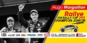 Hugo Margaillan - Champion Junior 208 Rally Cup 2018