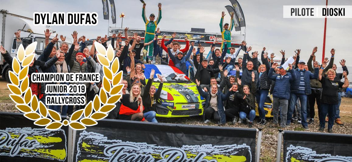 Dylan Dufas - Champion de France Rallycross Junior 2019